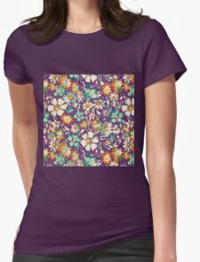 Rustic,retro,floral,pattern Womens Fitted T-Shirt