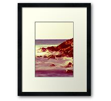 Rocks & Waves Framed Print