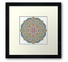 Mandala - Circle Ethnic Ornament Framed Print