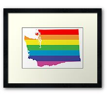washington rainbow Framed Print