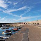 Along The Cobb - Lyme Regis by Susie Peek