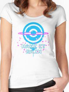 Pokemon Go PokeStop Make it Rain Women's Fitted Scoop T-Shirt