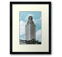 Beautiful day on UT campus Framed Print
