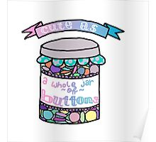 Cute as a Whole Jar of Buttons Poster