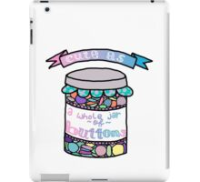 Cute as a Whole Jar of Buttons iPad Case/Skin