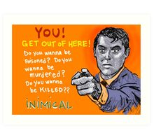 Inimical - Cary Grant Art Print