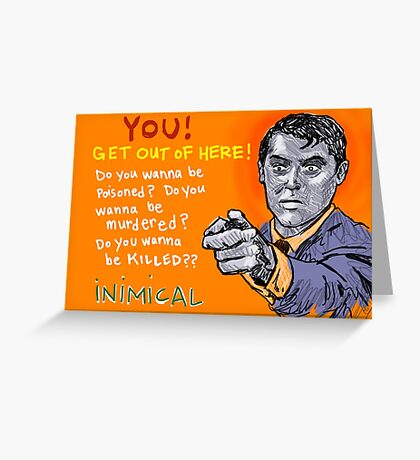 Inimical - Cary Grant Greeting Card