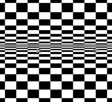 Black And White Squares Optical Illusion by ARTSHOP