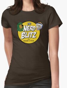 The Nerd Blitz w/ Doom And Fitz Womens Fitted T-Shirt