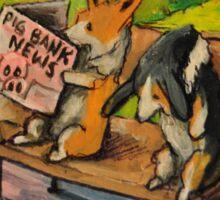 Welsh Pembroke Corgi~Cardigan~DOG~Bus Stop~FRIENDS Sticker