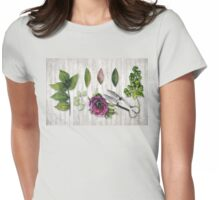Botanica I Botanical flower, leaf and berry nature study Womens Fitted T-Shirt