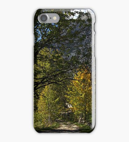 Road in the Alps iPhone Case/Skin