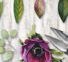 Botanica I Botanical flower, leaf and berry nature study Sticker