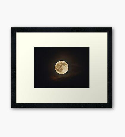 Matrix Moon Framed Print