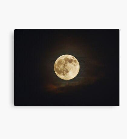Matrix Moon Canvas Print