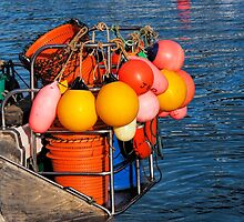 Colourful Fishing Gear - Lyme Regis Harbour by Susie Peek