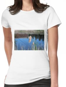 Cattail I- horizontal Womens Fitted T-Shirt