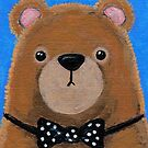 Brown Bear in a Bow Tie by Lisa Marie Robinson