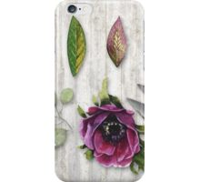 Botanica I Botanical flower, leaf and berry nature study iPhone Case/Skin