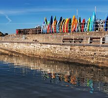 Colourful Kayaks - Lyme Regis by Susie Peek