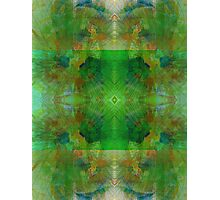 Green Geometric Lines Abstract Fractal Photographic Print