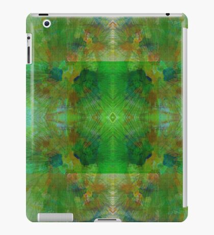 Green Geometric Lines Abstract Fractal iPad Case/Skin
