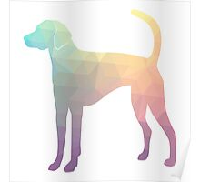 American Foxhound - Colorful Geometric Pattern Silhouette - Pastel Poster