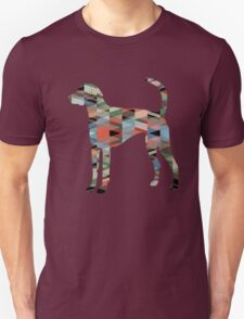 American Foxhound - Colorful Geometric Pattern Silhouette - Plaid Unisex T-Shirt