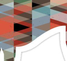 American Foxhound - Colorful Geometric Pattern Silhouette - Plaid Sticker