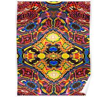Ideoscope - Primary Color Modern Art Fractal Design Poster