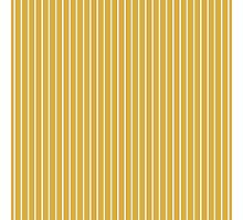 Solid Spicy Mustard & Thin White Pinstripe Photographic Print