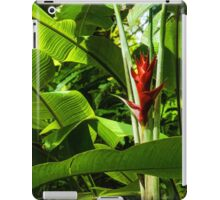 Tropical Impressions - Red Ginger Flower, Framed in Lush Jungle Green iPad Case/Skin