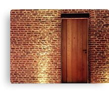Wall and Door Canvas Print