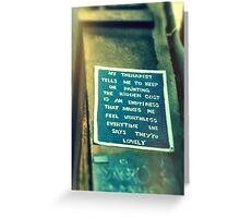 Street Poem Graffiti Greeting Card