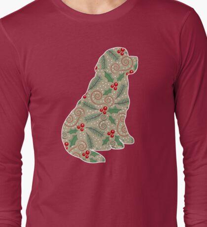 Christmas Holly Newfoundland Long Sleeve T-Shirt