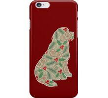 Christmas Holly Newfoundland iPhone Case/Skin