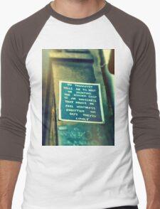 Street Poem Graffiti Men's Baseball ¾ T-Shirt