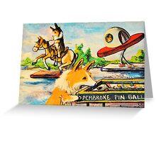 Welsh Pembroke Corgi~Cardigan~Dog~Penny Arcade~Manitou Springs~Colorado Greeting Card