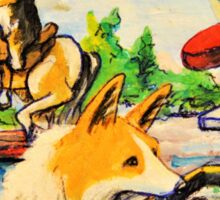 Welsh Pembroke Corgi~Cardigan~Dog~Penny Arcade~Manitou Springs~Colorado Sticker