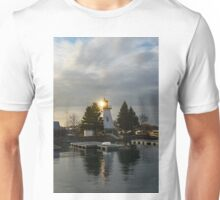 Lighthouse Lightburst - A Brilliant Golden Sun Flash Unisex T-Shirt