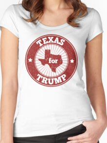 Texas For Trump Women's Fitted Scoop T-Shirt