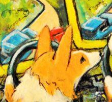 Welsh Pembroke Corgi~Cardigan~Dog~Arcade~FRIENDS~FUN Sticker