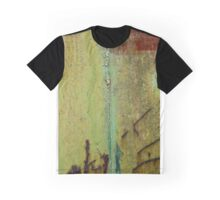 Abstract Waterfall-Train Texture Graphic T-Shirt