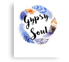 Boho Gypsy Soul Feather Wreath Canvas Print