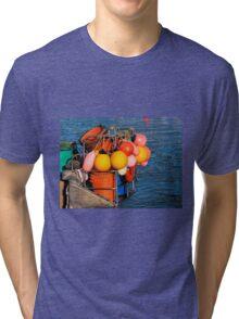 Colourful Fishing Gear - Lyme Regis Harbour Tri-blend T-Shirt