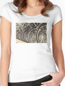 Bikes Women's Fitted Scoop T-Shirt