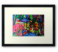 Pen & Ink Doodle by Brian Moss Framed Print