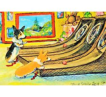 Welsh Pembroke Corgi~Cardigan~Dog~Arcade~Skeeball~painting Photographic Print