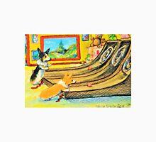 Welsh Pembroke Corgi~Cardigan~Dog~Arcade~Skeeball~painting Unisex T-Shirt