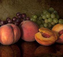 peaches and grapes classic by Jerry Deutsch